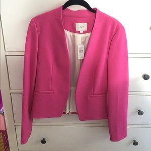 Ann Taylor LOFT pink blazer size 8