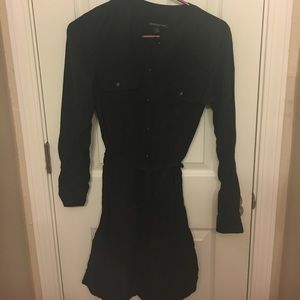 Black Banana Republic tie-waist shirtdress