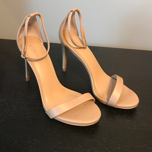 d4fd76d5ad5 Express Shoes - Nude Strappy Heel