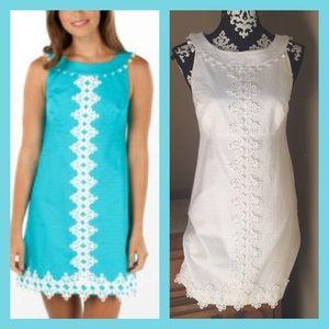 Lilly Pulitzer Jacqueline white dress lace trim 6