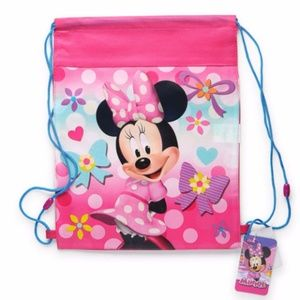 Pink Minnie Mouse Sling Bag Drawstring
