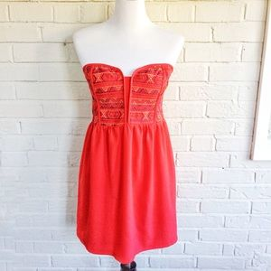 Urban Outfitters Staring At Stars coral dress