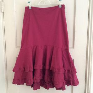 Anthropologie Odille Raspberry Tango Skirt Size 2