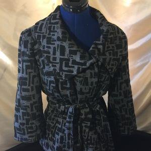 Sandro Sportswear Hidden Button Wide Collar Belted