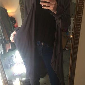 Long flowy drape light jacket