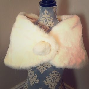 Jackets & Blazers - Vintage rabbit fur wrap shaw Cloak