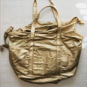 Halston Heritage Gold Duffle/Overnight Bag