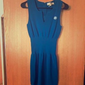 Beautiful Blue dress with zipper split.