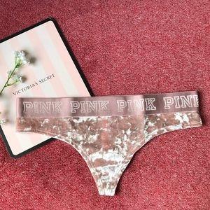 VS PINK Velvet THONG Panty
