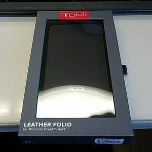Leather Folio case for Droid Turbo 2