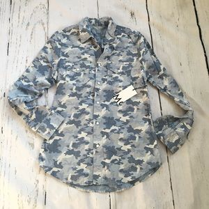 MOTHER JEANS camo shirt