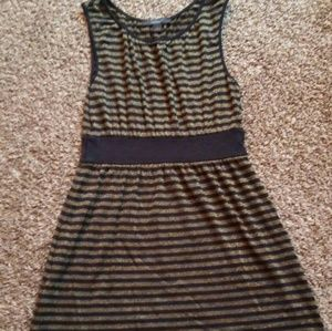 Express Black and Gold Dress