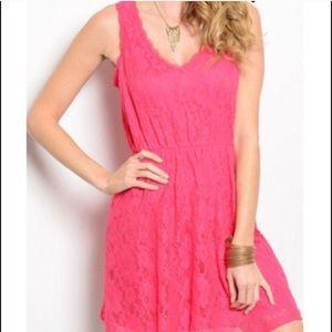 Everly Fuchsia Lace Dress sz small