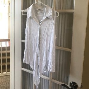NWOT white sleeve button up