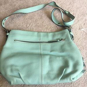 Coach Mint green leather purse