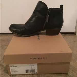 Gently worn Lucky Brand Basel Leather Booties
