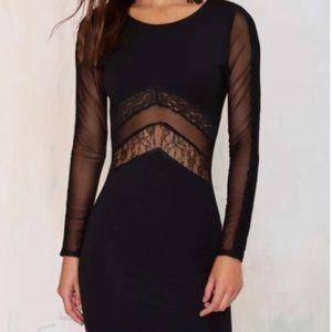 NWT lace insert dress sz L