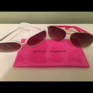 2 pair of BETSEY JOHNSON sunglasses