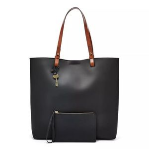 Fossil Rachel NS Tote NWT Black Leather