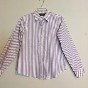 Ralph Lauren Striped Pinstriped Cuff-able Shirt