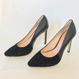 Banana Republic Black Leather & Suede Erin Pumps 6