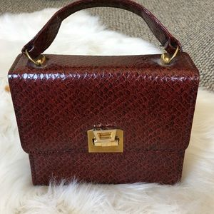 mini vintage snakeskin bag