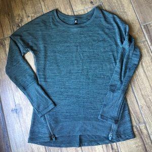 Green Athletic Top Long-Sleeved NWOT S