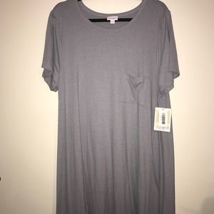 BNWT LuLaRoe 2X Carly, Gray-Blue Leggings Material