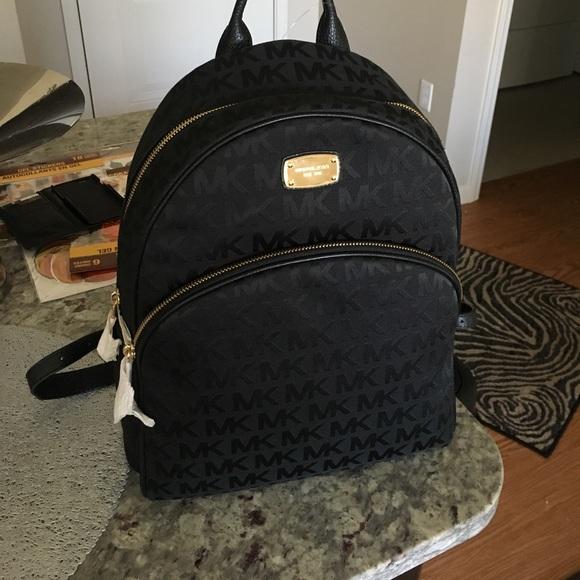 7bac4b6117 Brand new Michael Kors MK bookbag Black and Gold