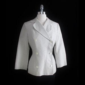 Dolce Gabbana Silver Damask Blazer Jacket S