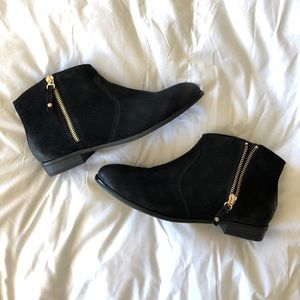 Aldo Black Suede Booties