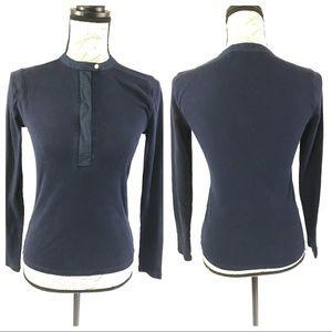 Ralph Lauren Navy Blue Long Sleeve Blouse Top