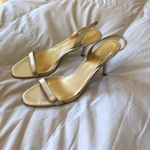 J. Crew Gold Metallic Heels