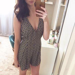 Zara Sleeveless Floral Romper