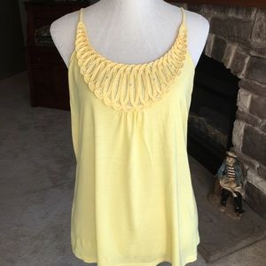 Inc. brand yellow tank top