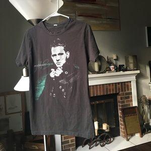 Michael Bublé black concert souvenir t shirt