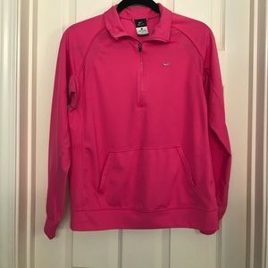 Pink Nike Dri-Fit Half Zip, Size Large