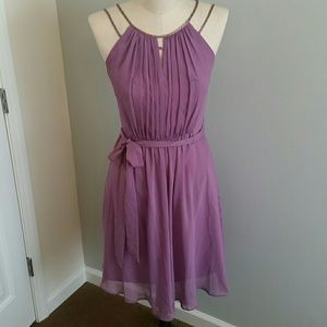 Lavender chiffon dress