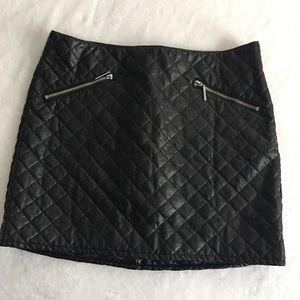 NWT! Faux Leather Quilted Mini