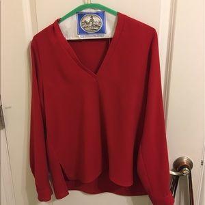 Zara blouse in red