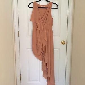 Daily Look Pumpkin-Orange Asymmetrical Gown Dress