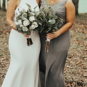 Soft Charcoal Crisp-Extra Extra Large Bridesmaid