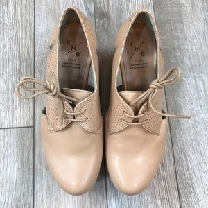 KMB Platform Wedge Lace Up Leather Shoes. Size 38