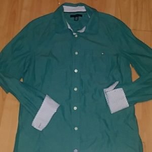 Tommy Hilfiger Turquoise Button Down