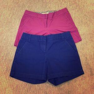 Two pairs J.crew chino shorts