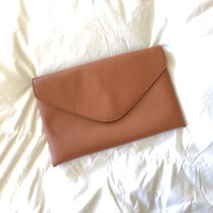 J. Crew Brown Leather Clutch