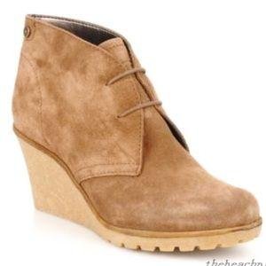 Espirit Suede Kiwi Ankle Boot