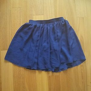 American Apparel Blue Double Layer Chiffon Skirt