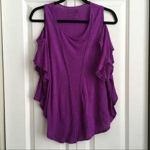 Free People Purple Linen Blend Dolman top - Sz S