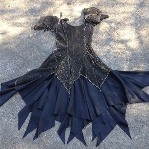 Vintage Halloween witch costume gold/black